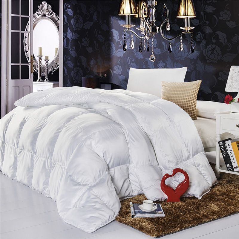 TUTUBIRD-Siberian White Goose Down Winter/Autumn Comforter Quilt Duvet Blanket Filling Fit for Twin Double Queen King Size Bed