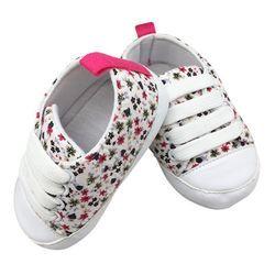 Mode Enfant Enfants Casual Dentelle-Up Baskets À Semelle Souple Pour Bébés Lit Chaussures Premiers Marcheurs 0-18 M