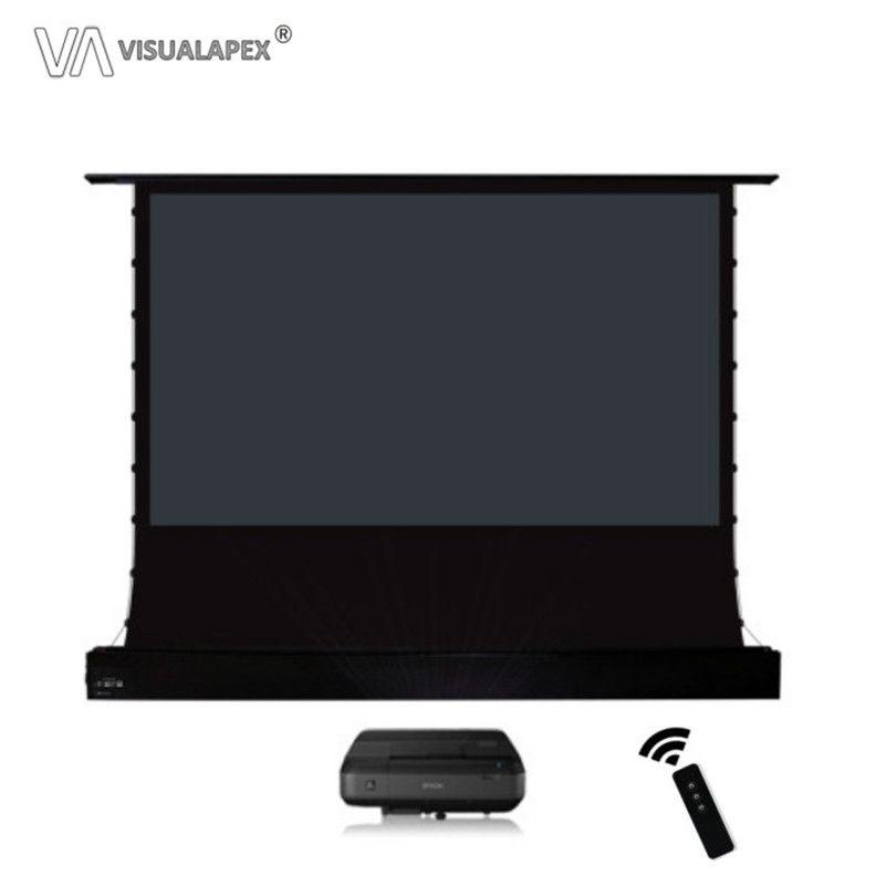 A2HALRU 16:9 HDTV Format Motorisierte Elektrische ALR Boden Rising Projektion Bildschirm für Ultra short-throw-Projektor, UST Anti-licht