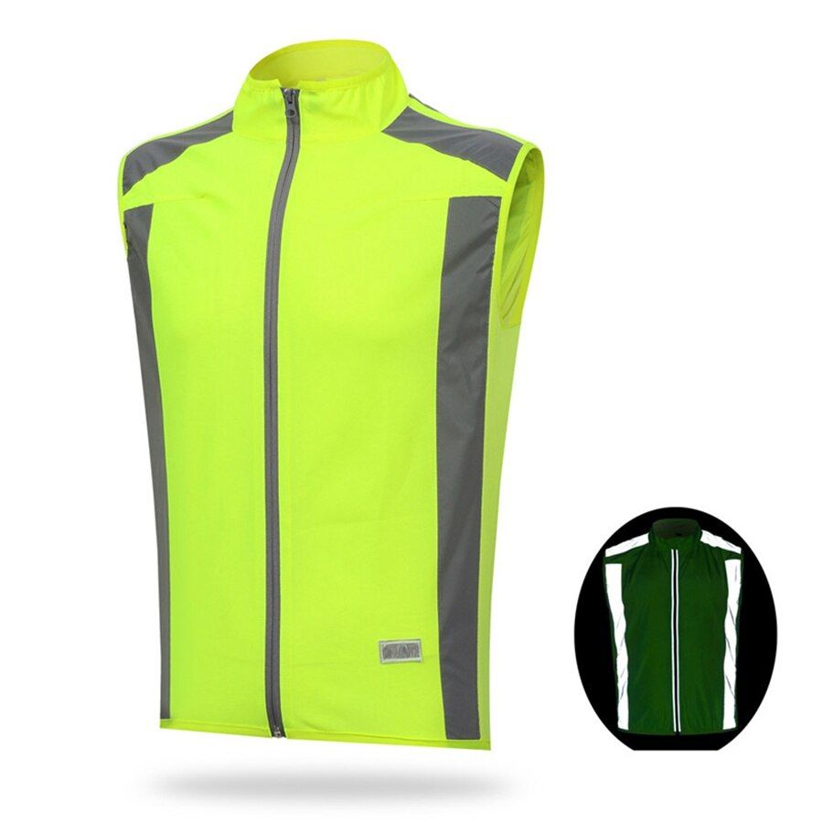 Weimostar Men Reflective Cycling Vest Windvest Sleeveless Summer Cycling Jersey Undershirt Cycling Clothing Outdoor Sports Top