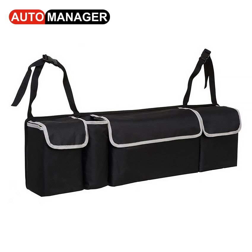 Car Trunk Backseat Organizer Storage Bag Oxford Cloth High Capacity 2in1 Auto Seat Back Organizers Interior Accessories