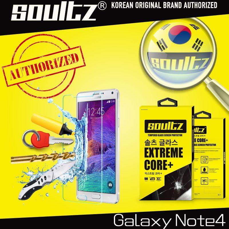 Soultz 2.5D Премиум Закаленное Стекло Экран протектор для Samsung Galaxy Note 4 закаленное Стекло защитный Плёнки N910 с пакетом
