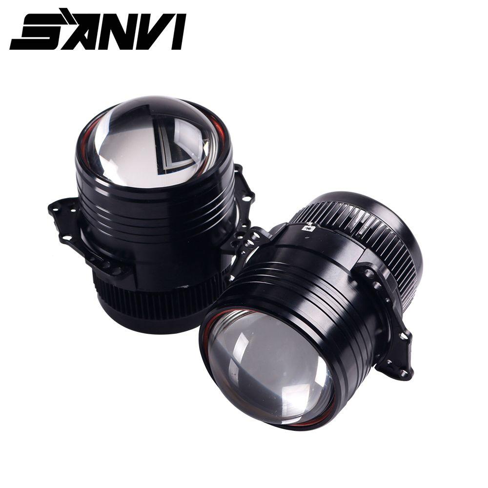Sanvi 2 stücke Z1 3 zoll Bi LED Projektor Objektiv Scheinwerfer 42 W 5000 K Hallo Abblendlicht Auto Licht nachrüstsatz Für Auto Styling