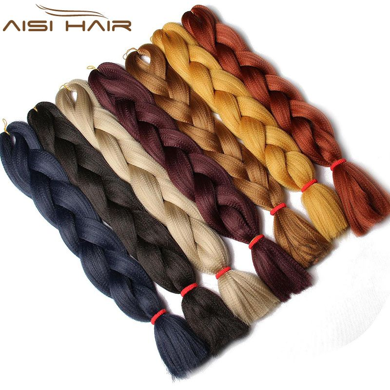 I's a wig  Synthetic Jumbo Braids hair 100g/Pack Blonde Crochet False Braiding Hair Extensions 1pcs/lot