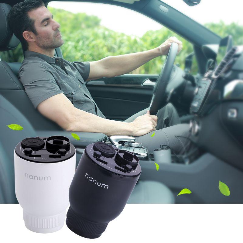 Nanum Auto Luftreiniger Auto lufterfrischer Auto Ladegerät Anzug für Home Office Auto Duft Tasse Ätherisches Öl Diffusor