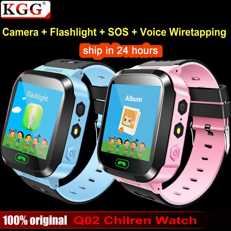 KGG Q02 Baby Smart Watch With SOS Call <font><b>Camera</b></font> Touch Screen Lighting Phone Positioning Location Children Watch for Android IOS