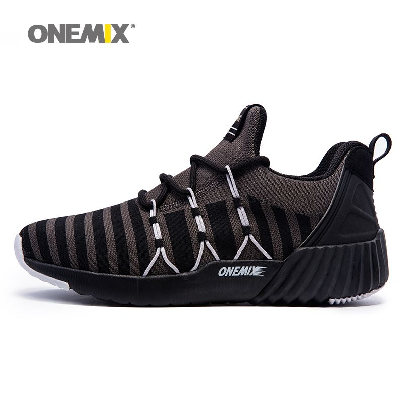 ONEMIX Men's Running Shoes Breathable Boy Weaving Sport Sneakers 2017 Unisex Shoes Increasing height Women Jogging Shoes