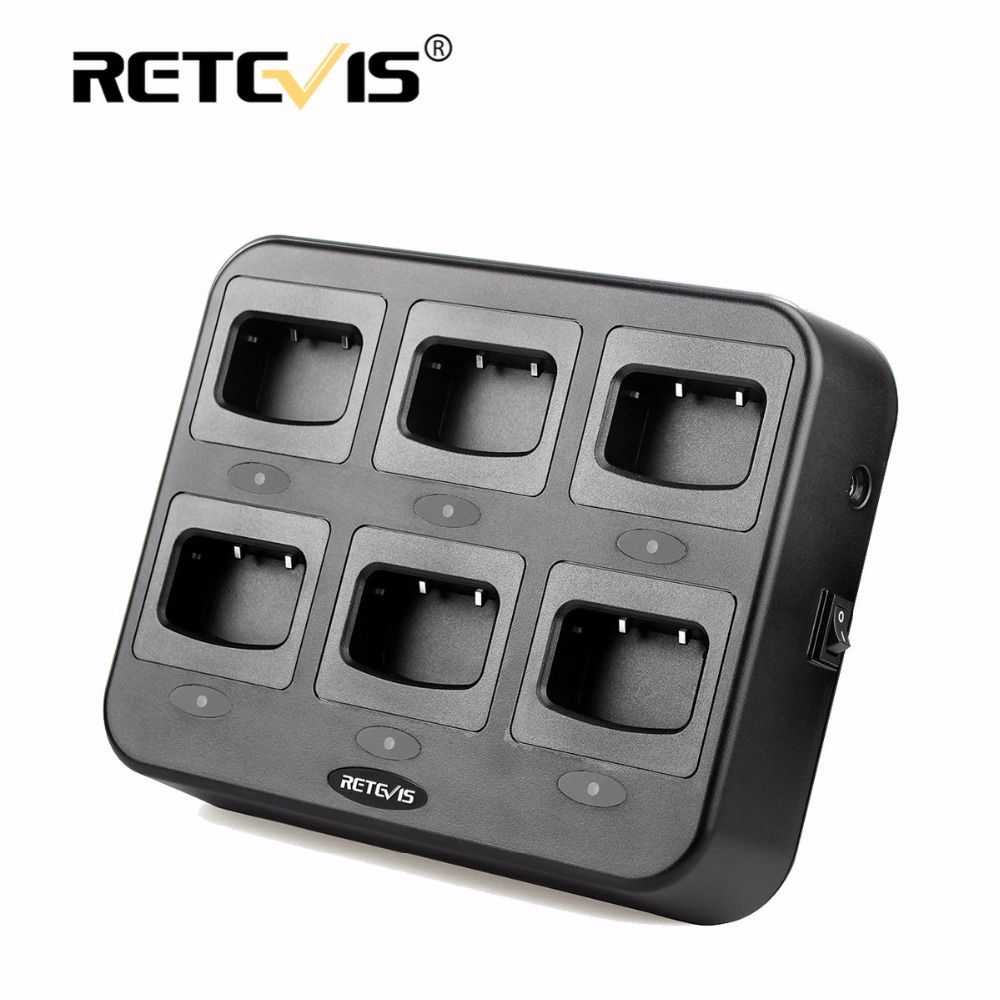 Retevis RTC777 Six-Way Charger Multiple Safety Protection For Retevis H777 H-777 For Baofeng 888S bf-888S Walkie Talkie Chargers