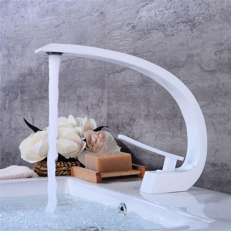 Bad Becken Armaturen Neue Moderne Waschbecken Mischbatterie Messing Waschbecken Wasserhahn Eitelkeit Heißer Kaltes Wasser Badezimmer Armaturen Torneira