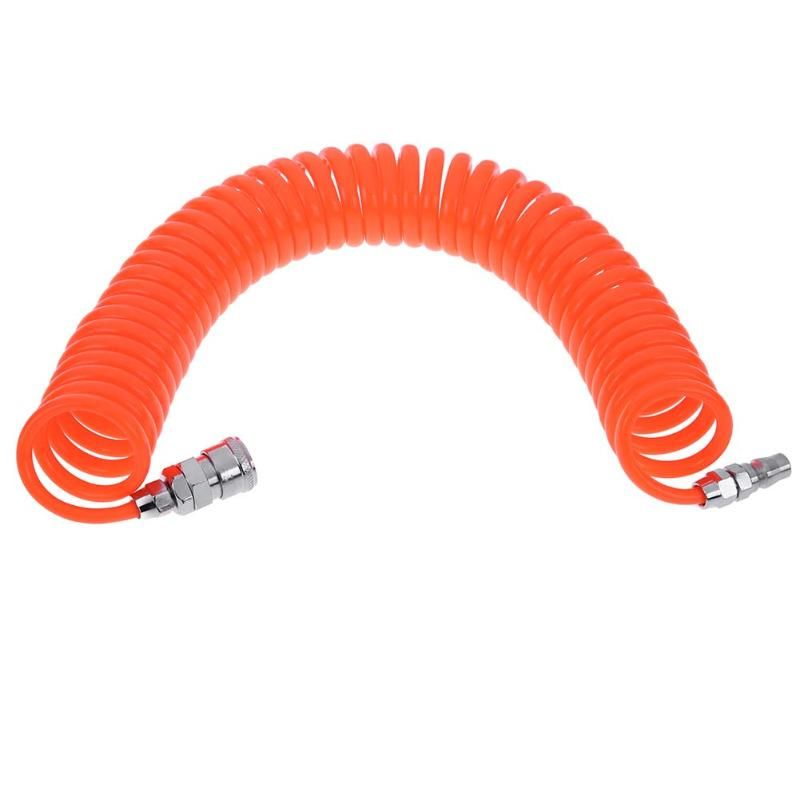 1pc 6m Polyurethane PU Air Compressor Hose Tube Pneumatic Hose Pipe for Compressor Air Tool PP20 + SP20 Type Household Tools