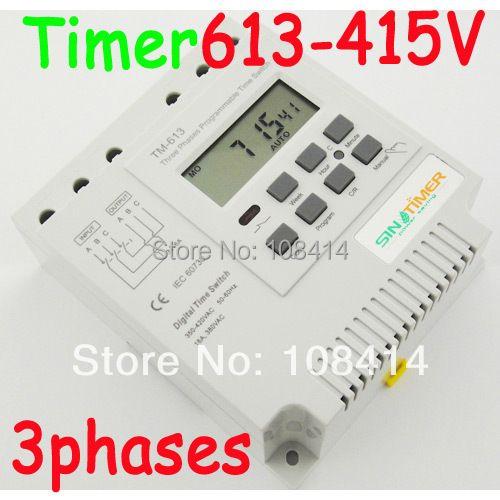 3PCS Three phases 380v 415v 7 days programmable TIMER RELAY Switch  FREE SHIPPING SINOTIMER BRAND