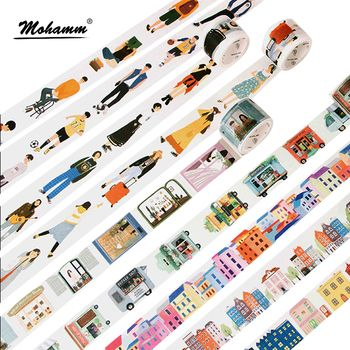 Creative Modern People City Daily Life Decorative Washi Tape Diy Scrapbooking Masking Tape School Office Supply