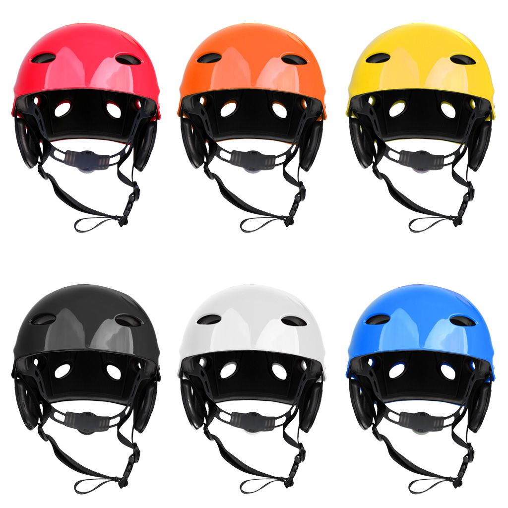 Adjustable M Size Safety Helmet Hard Hat for Kayak Canoe Boat Surfing SUP Water Sports Rock Climbing Cycling Canoeing Rafting