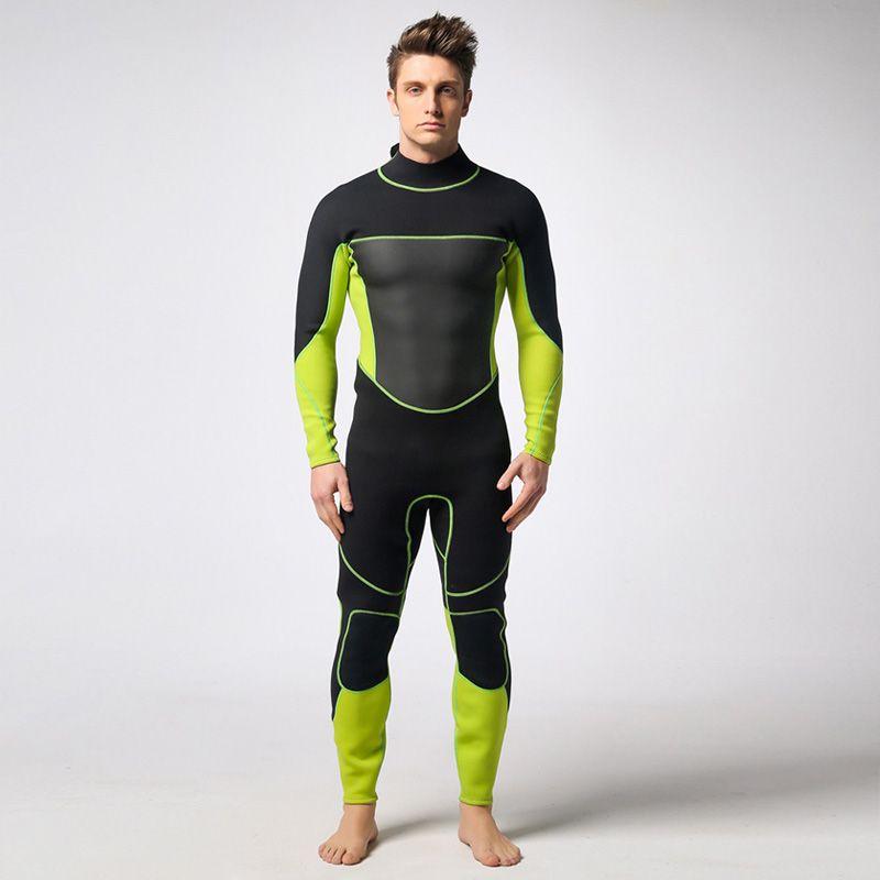 Speerfischen Stück Neoprenanzug 3 MM Neopren Scuba Surfanzug Schnorcheln anzug Schwarz Grün Triathlon anti-uv-kleidung Angeln Neoprenanzüge