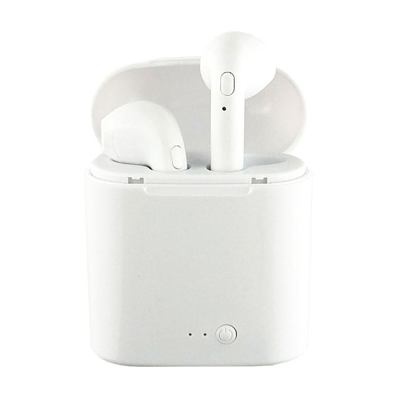 WPAIER I7S TWS Bluetooth Headphones Portable Wireless Earphones With Charging Box mini bluetooth headsets Universal type TWS