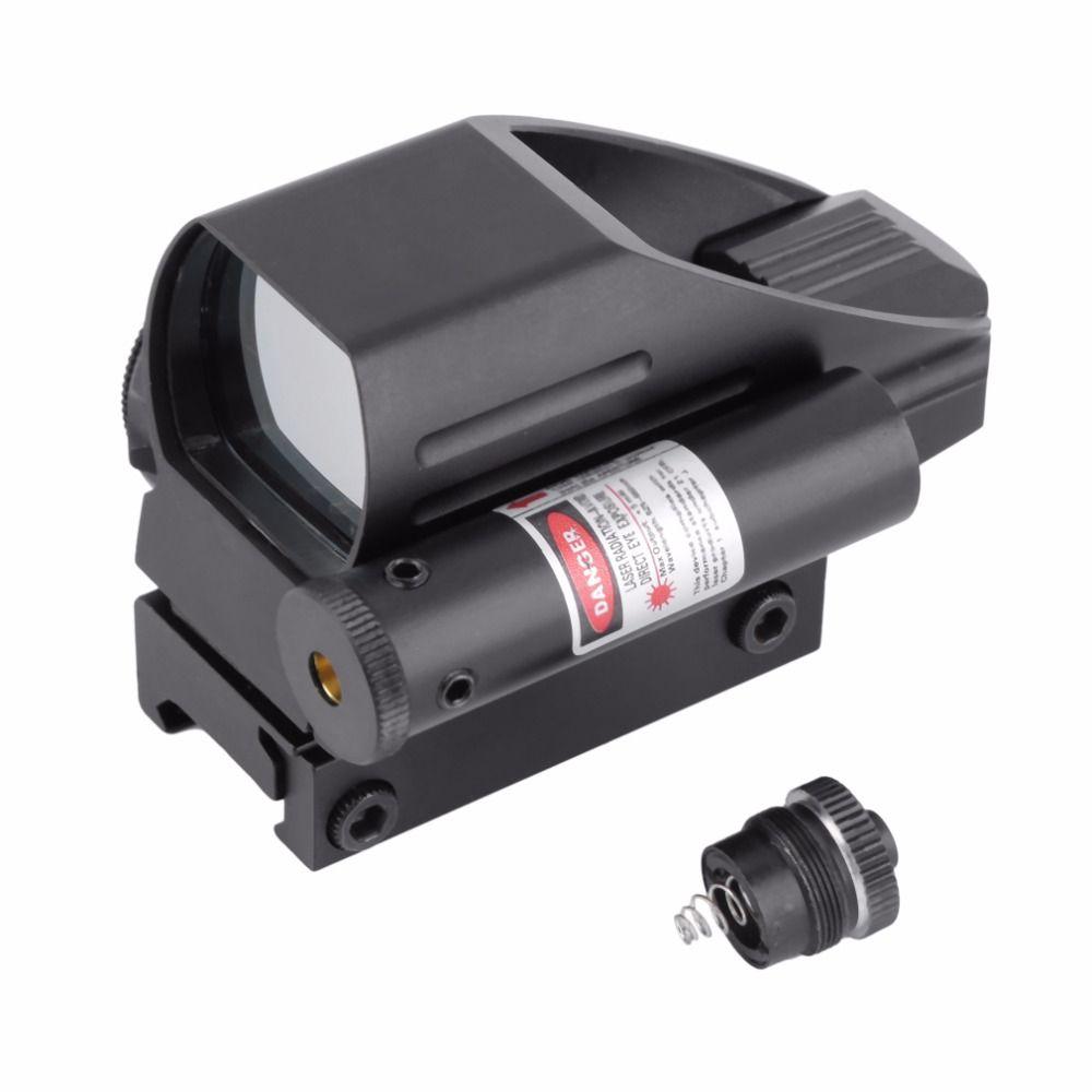 Taktische Holographic Reflex Red Grüner Laser 4 Absehen Dot Anblick-bereich Jagd Luftgewehr Optik Zubehör Projiziert Schiene Montieren