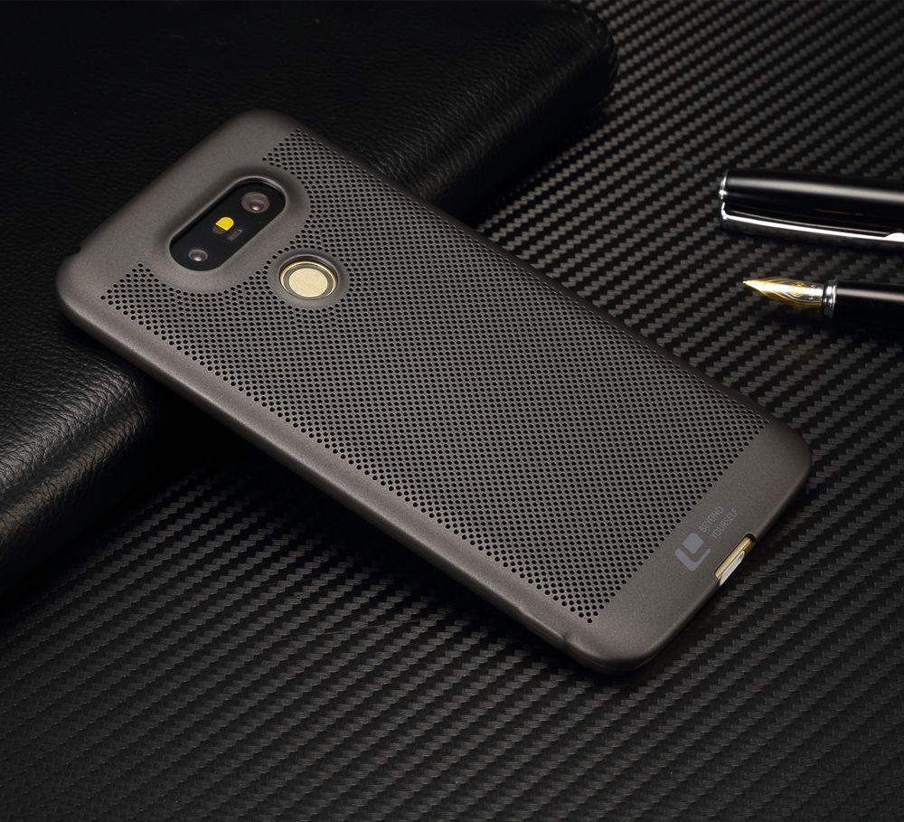 Marque de luxe ultra mince Nouvelle grille cas de couverture arrière pour LG G5 cas et couvre pour g5 SE d'origine accessoires