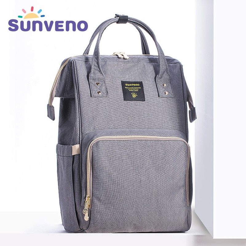 Sunveno Mummy Maternity Diaper Nappy Bag Organize Large Capacity Baby Bag Backpack Nursing Bag for Mother Kids Baby <font><b>Care</b></font>