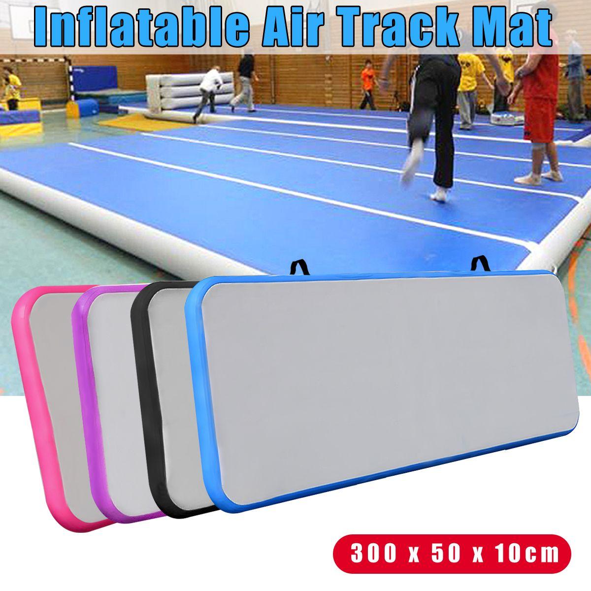 118x19x3,93 zoll Outdoor Air Track Aufblasbare Gym Yoga Mat Praxis Taumeln Boden Gymnastik Pad Rosa/ schwarz/Lila/Blau