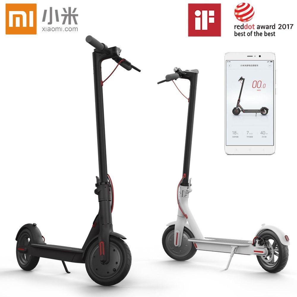 Original Xiaomi Mijia M365 Smart Elektrische Faltbare Roller 2 Räder Hoverboard Oxboard 30 km laufleistung LG Batterie Tretrollers
