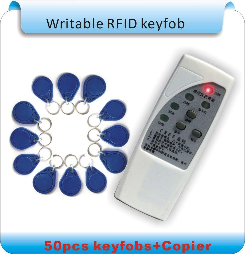 Freies Verschiffen 4 frequenz 125 KHz/250 kHZ/375 KHZ/500 KHZ EM RFID copier lesen-schriftsteller/Duplizierer + 50 stücke Beschreibbare tags