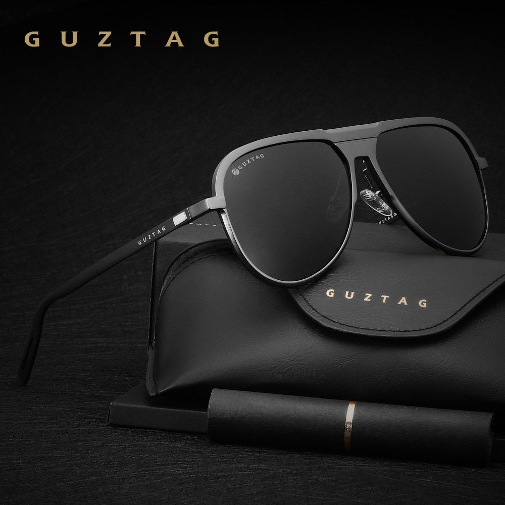 GUZTAG Unisex Classic Brand Men <font><b>Aluminum</b></font> Sunglasses HD Polarized UV400 Mirror Male Sun Glasses Women For Men Oculos de sol G9828