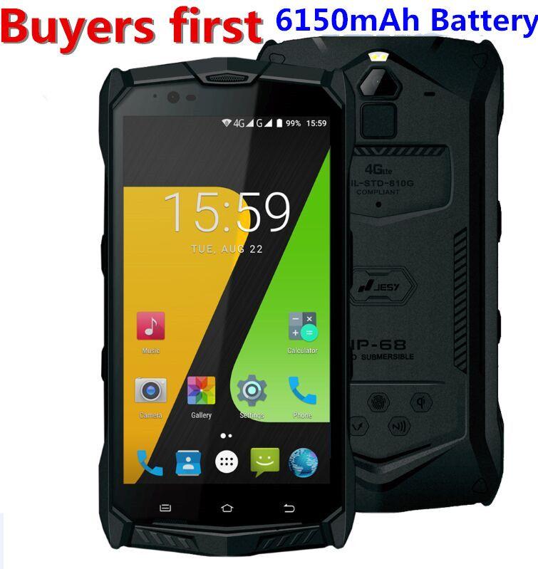 JESY J9S IP68 Wasserdicht android 7.0 MTK6755 Octa-core 4G LTE handy 4 GB RAM 64 GB ROM 5,5