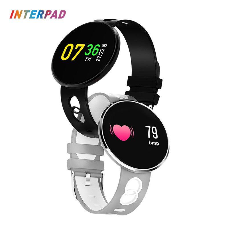 2018 New Interpad Bluetooth Smart Watch Sleep Tracker Waterproof Sports Watch Blood Pressure Oxygen Smartwatch For Huawei xiaomi