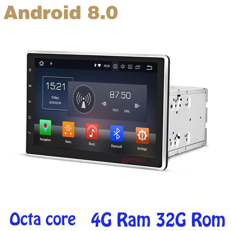10.1 inch Octa core PX5 Android 8.0 universal 2 din car dvd gps auto player 4G RAM 32G ROM wifi 4g usb auto Multimedia