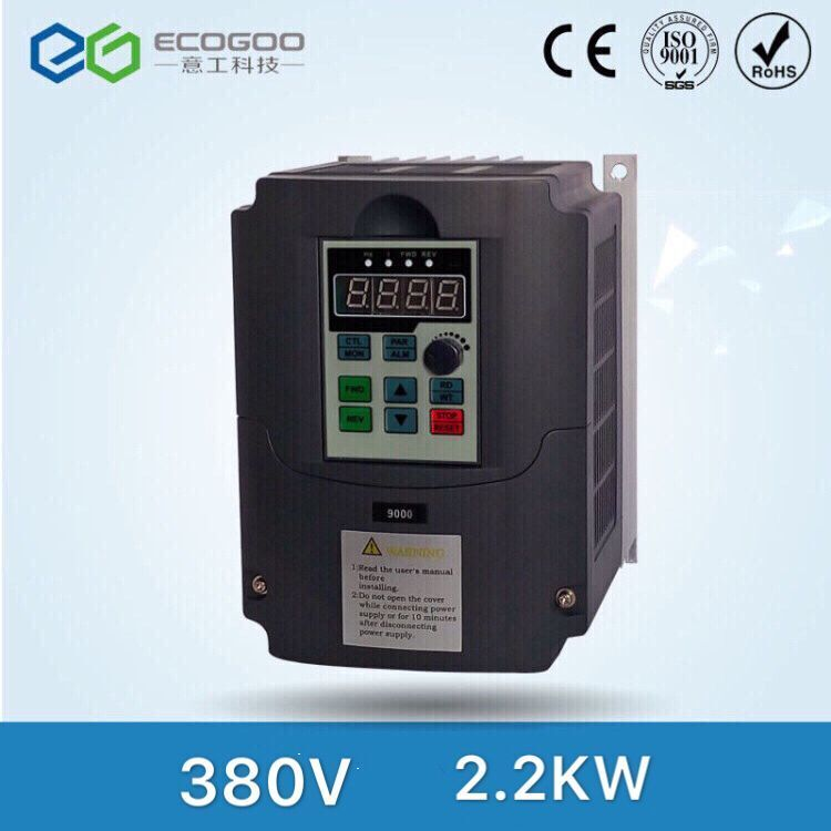 Frequency Converter 2.2KW VFD for Air Blower Output 3Phase 380V 400Hz 5.1A New Universal Inverter VC V/F Control VFD