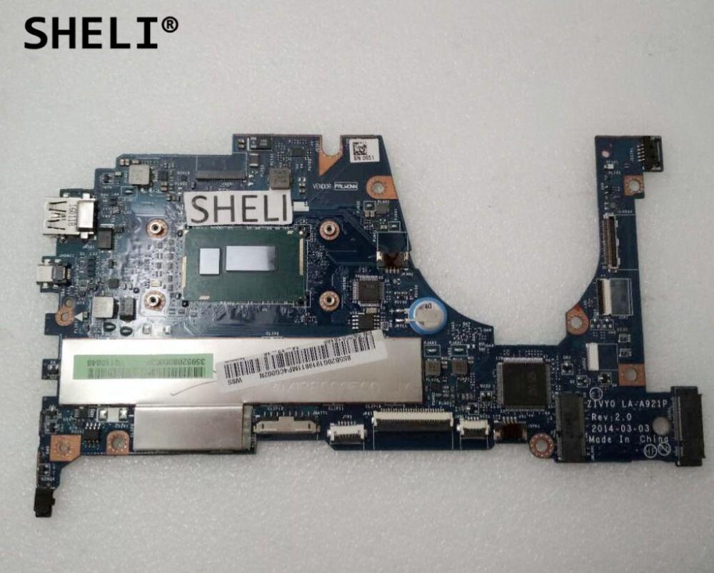 SHELI For Lenovo Yoga 2 13 Motherboard with I5-4210U LA-A921P 8G 5B20G19198
