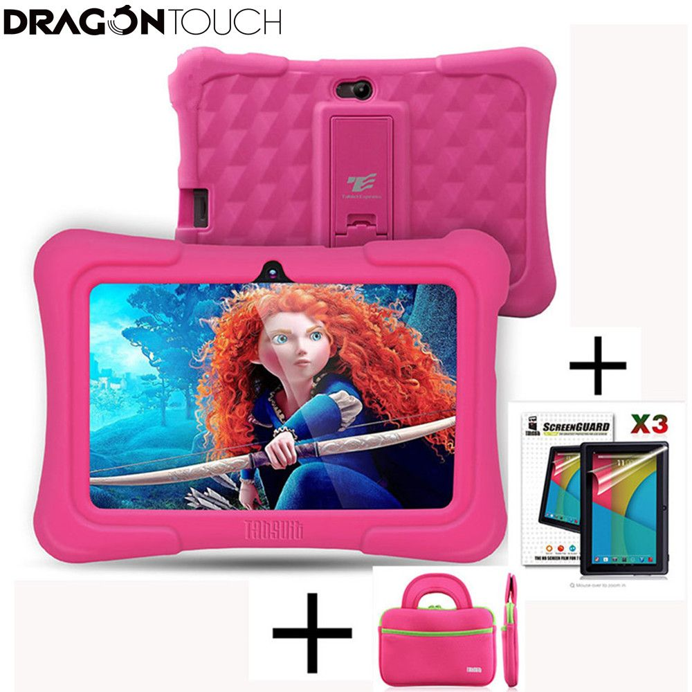 Dragon Touch Y88X Plus 7 inch Kids Tablets for <font><b>Children</b></font> Quad Core Android 5.1 +Tablet bag+ Screen Protector gifts for Child