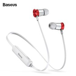 BASEUS S07 Wireless Earphone CSR Bluetooth Headphone untuk Ponsel iPhone Xiao Mi Mi IPX5 Headset Nirkabel Stereo Earpiece Earbud