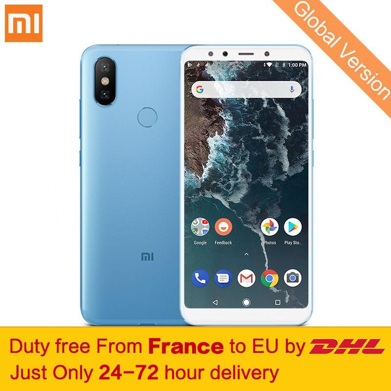 Free tax!Global Version Xiaomi Mi A2 6GB 128GB Mobile Phone Snapdragon 660 Octa Core 20MP AI Dual Cameras 5.99