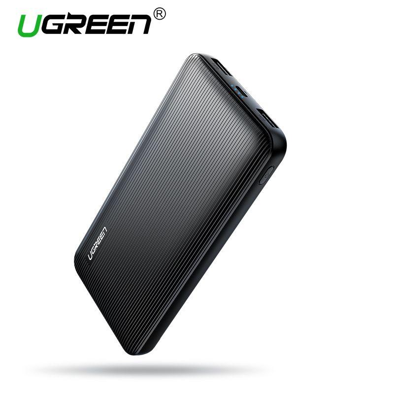 Ugreen Power Bank 10000mAh for iPhone X 8 Portable External Battery Charger for Cell Phones <font><b>Xiaomi</b></font> mi 7 Huawei P20 Pro Powerbank