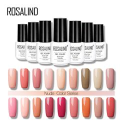 ROSALIND 7ML Nude Color Series Gel Nail Polish Acrylic For Nail Art False Tips Extension Gel Lacquer Varnishes Primer Manicure