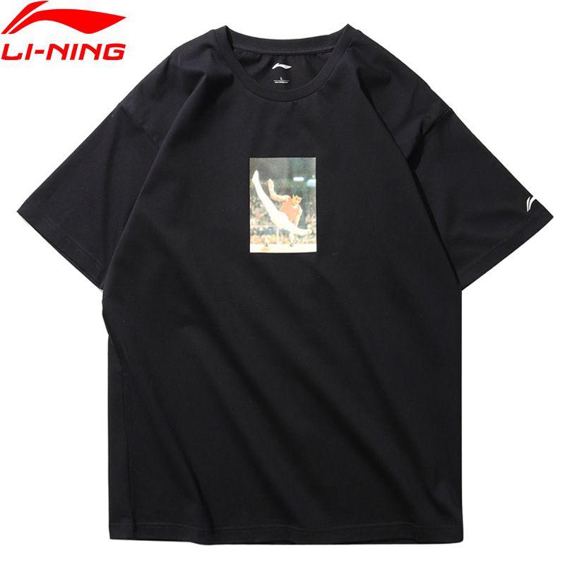 Li Ning Männer T-Shirt NYFW LI-NING VINTAGE Mr. Li OG DRUCK T Regular Fit 73% Baumwolle 27% Polyester AHSN689 MTS2711