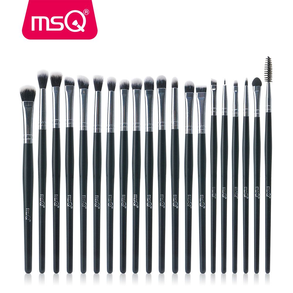 MSQ Professional 20Pcs/Sets Eye Shadow Foundation Eyebrow Lip Brush Makeup Brushes Cosmetic Tool Make Up Eye Brushes Set