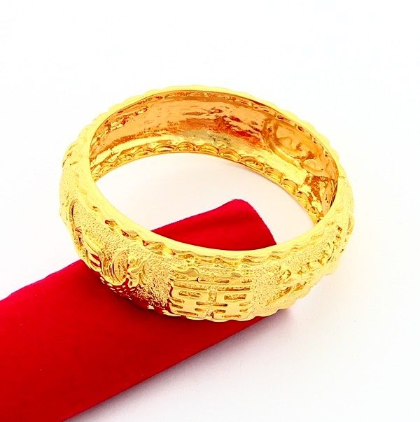 24KB-047 Top quality Yellow Gold-Color Round Bangle Bracelet Wedding Jewelry for Lady Fashion Jewelry, Factory Price