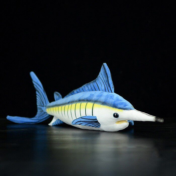 15.7 inch / 40cm Long Lifelike Marlin Stuffed Toys Soft Sea Animals Plush Toy Huggable Fish Plush Dolls For Kids
