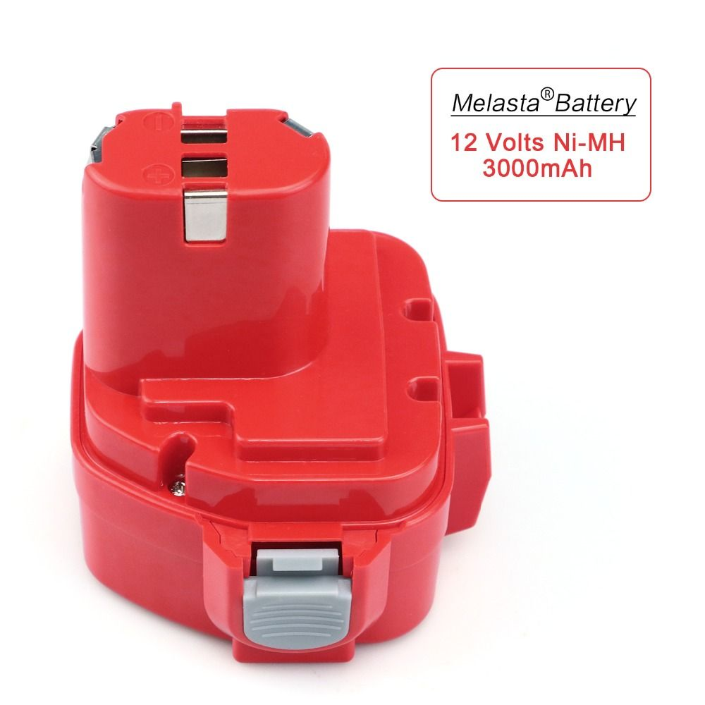 MELASTA Upgrade 12v 3000mAh <font><b>NIMH</b></font> Replacement Battery for Makita 1220 PA12 1222 1233S 1233SA 1233SB 1235 1235A 1235B 192598-2