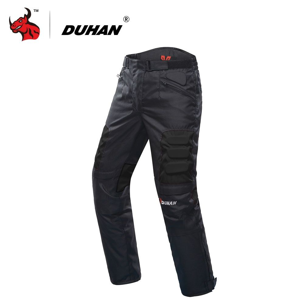DUHAN Motorcycle Pants <font><b>Motocross</b></font> Pants Black Moto Pants <font><b>Motocross</b></font> Off-Road Racing Sports Knee Protective Motorcycle Trousers