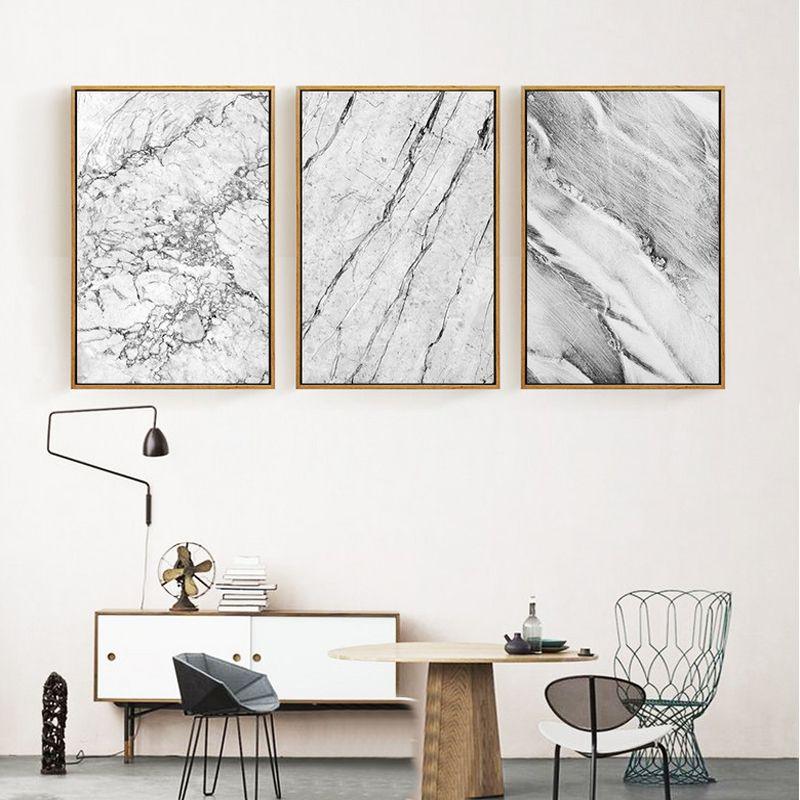 Abstrait Gris Marbre Toile Peintures Nordique Affiches et Affiches Pop Wall Art Photos Pour Le Bureau Salon Home Decor NO cadre