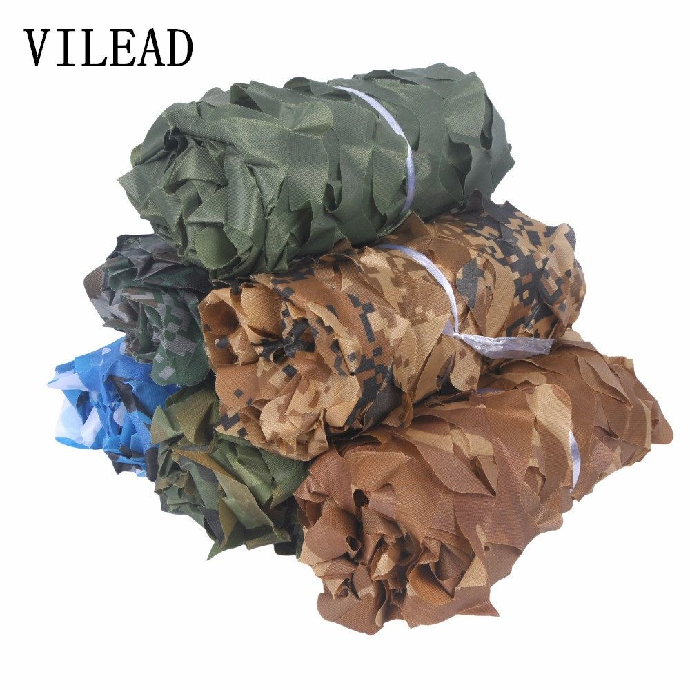VILEAD Simple 1.5m*6m Woodland Blue Green Desert Camouflage Nets Camo Netting without Edge Binding Sun Shelter Car Cover