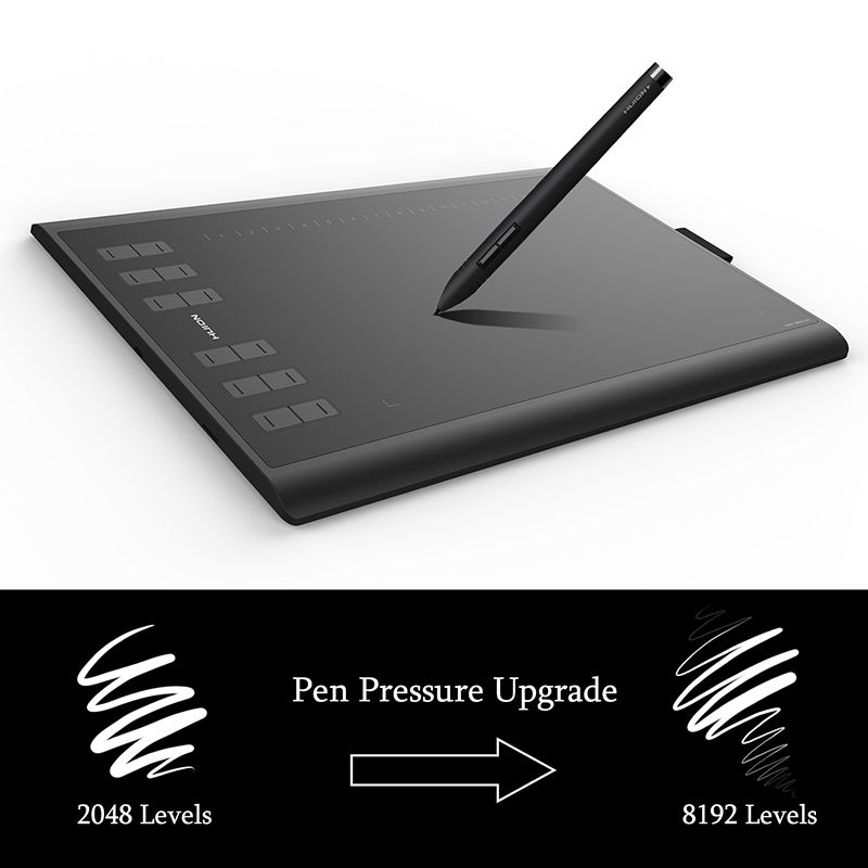 Neue Huion 1060 Plus Digitalen Grafiktablett 8192 Ebene Grafik tablette Zeichnung 5080 LPI mit 8G Speicher Künstler Handschuh als geschenk
