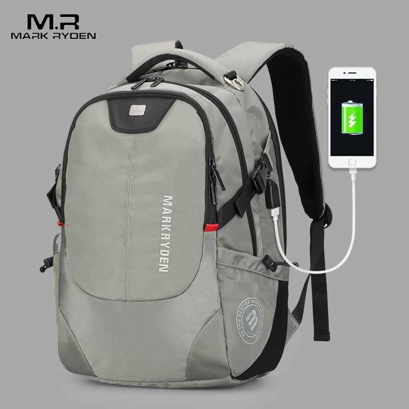 Mark Ryden Men's Backpack Fashion Multifunction USB Charging Men 15inch Laptop Backpacks Bisiness Bag For Men