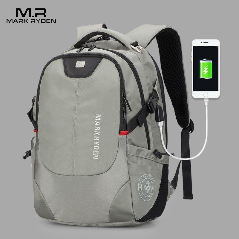 Mark Ryden Men's Backpack Fashion Multifunction USB Charging Men 15inch Laptop Backpacks Bisiness Bag For Men