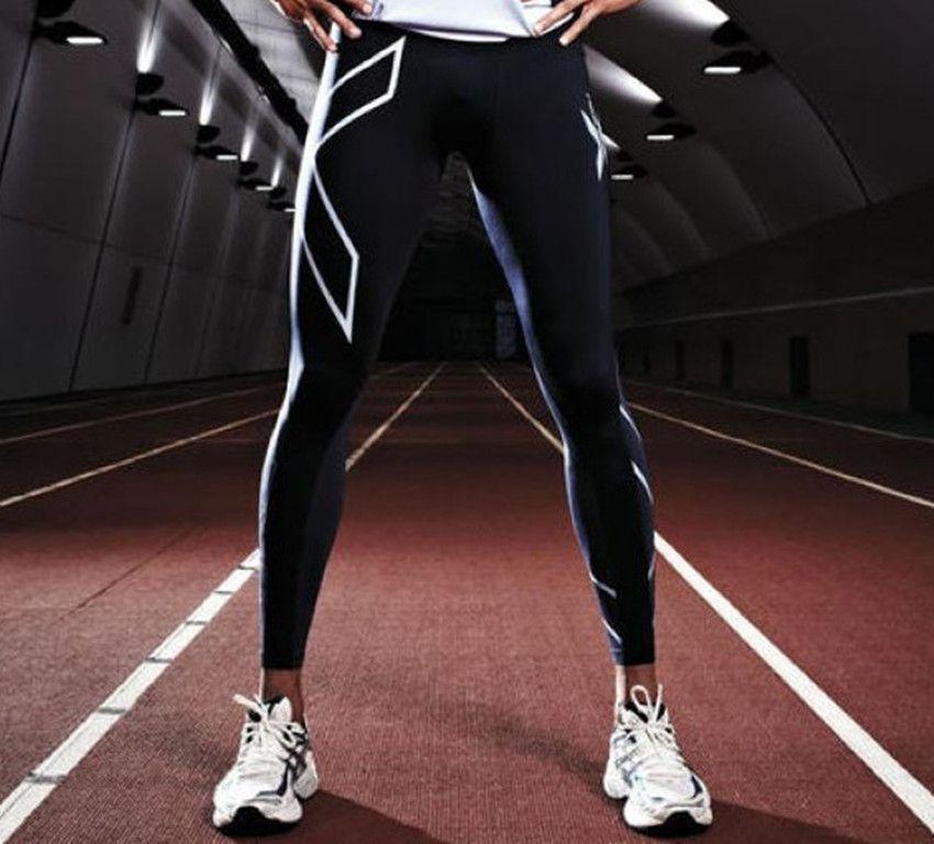 2018 Men's Sports Leggings Men's Women Compression Sports Leggings Fitness Pants Men's Breathable Quick Dry Running Leggings