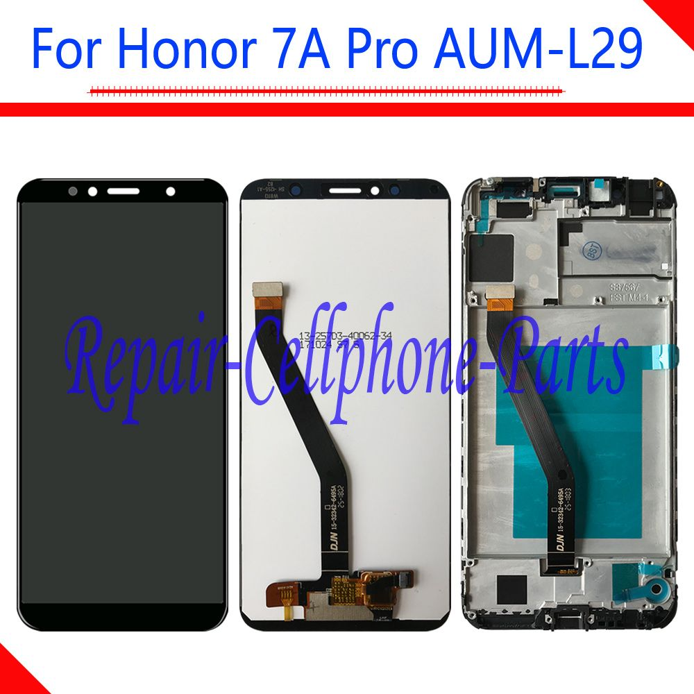 5.7 inch Full LCD DIsplay + Touch Screen Digitizer Assembly With Frame For Huawei Honor 7A Pro AUM-L29 AUM-L41