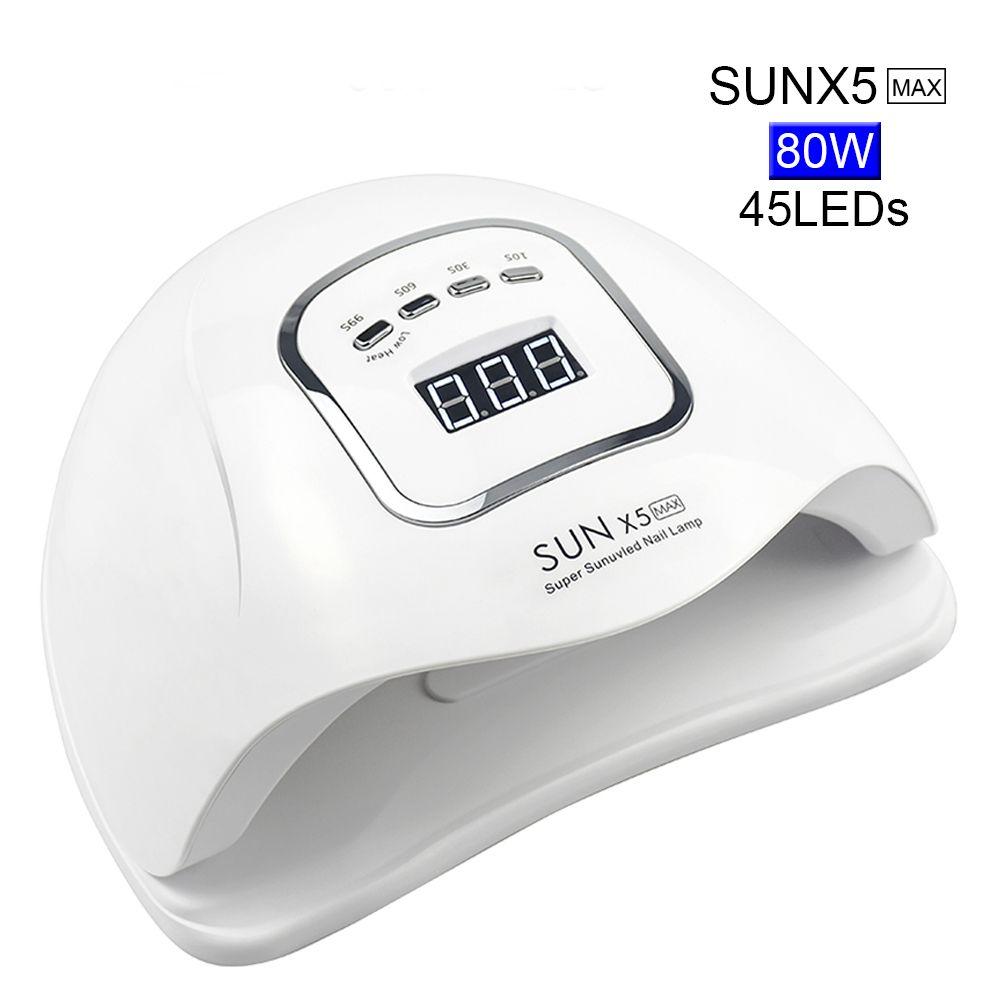Lampe à uv LED 80/72/54/36 W pour manucure sèche-ongles pour tous les Gels vernis avec capteur automatique contrôle intelligent de la température